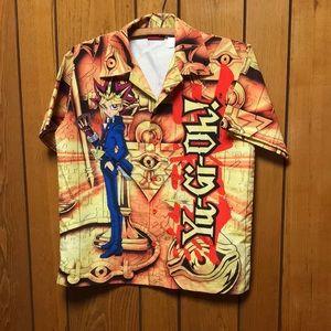 Vintage 1996 Yu-Gi-Oh Anime men's buttondown shirt